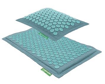 ensemble tapis et coussin champ de fleurs turquoise turquoise - Tapis Turquoise