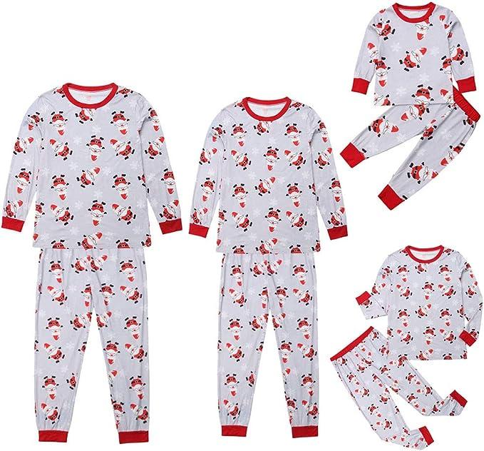 Pijamas Dos Piezas Familiares de Navidad, Conjuntos Navideños de ...