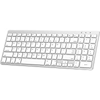 OMOTON Upgraded Ultra-Slim Bluetooth Keyboard with Numeric Keypad, Compatible with iOS Devices(iPhone/iPad/iPad Pro/iPad Air/iPad Mini) and MacBook [Version 10.0 or Above], Apple Edition, White