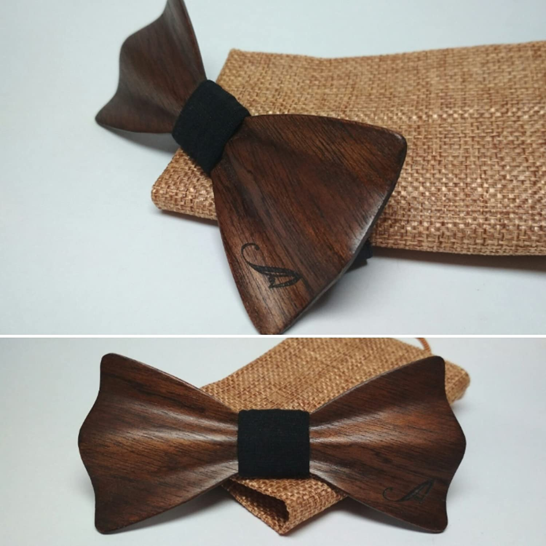 Pajarita de madera de Caoba Tintada