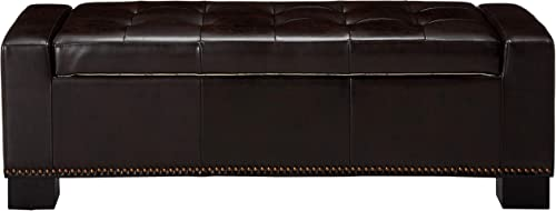 Christopher Knight Home Explorer Leather Storage Ottoman