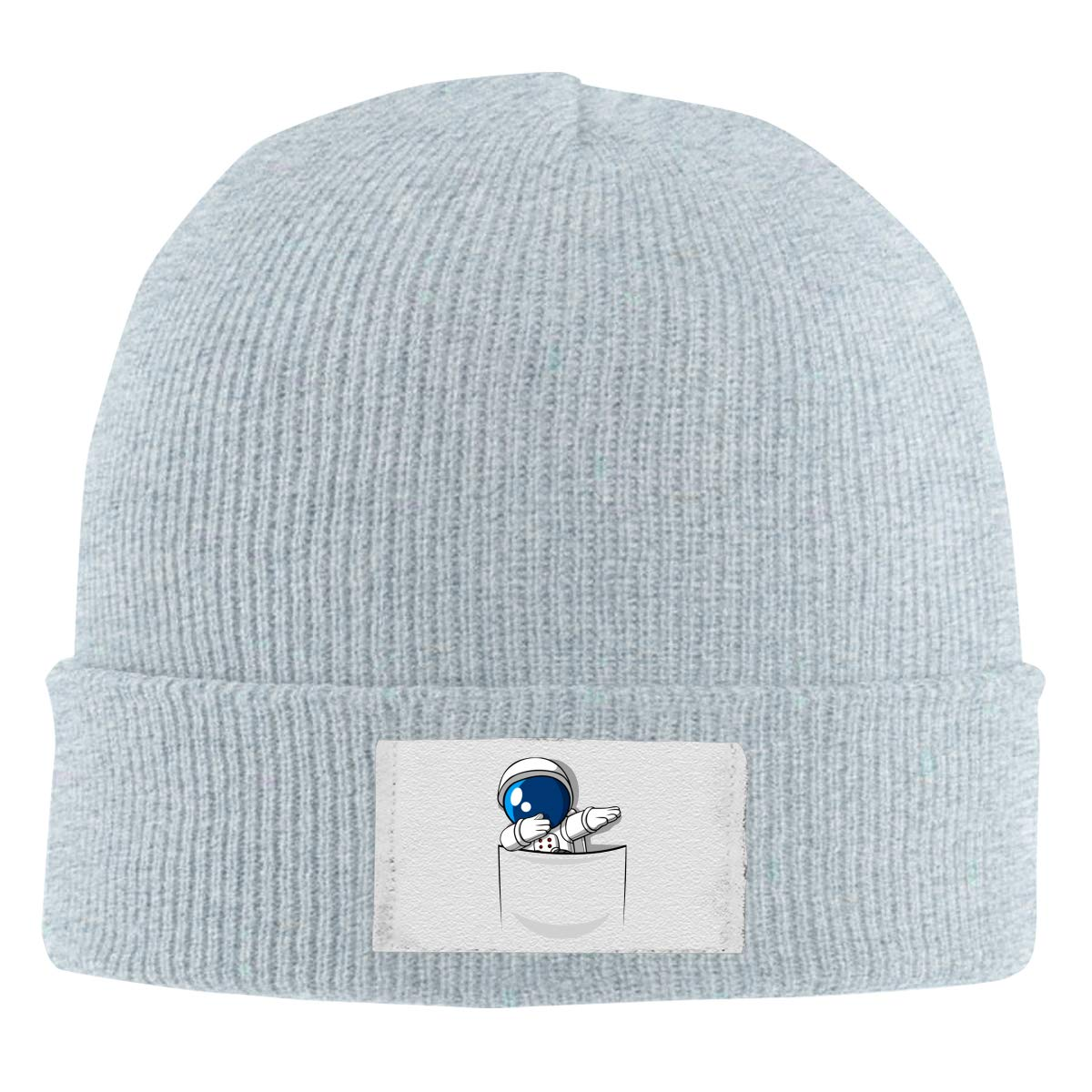 Stretchy Cuff Beanie Hat Black Dunpaiaa Skull Caps Dabbing Pocket Astronaut Winter Warm Knit Hats