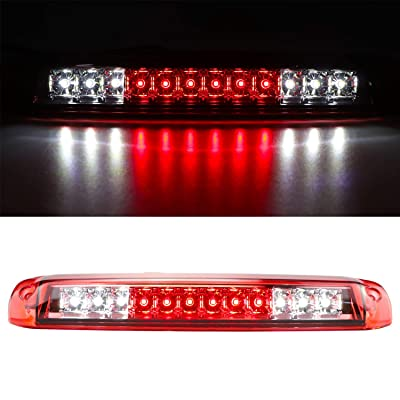 For 1999-2006 Chevrolet Silverado/GMC Sierra 1500 2500HD 3500 Third 3rd Brake Light Cargo Light High Mount Lamp Rear Tail Stop Light 5978318 (Red): Automotive