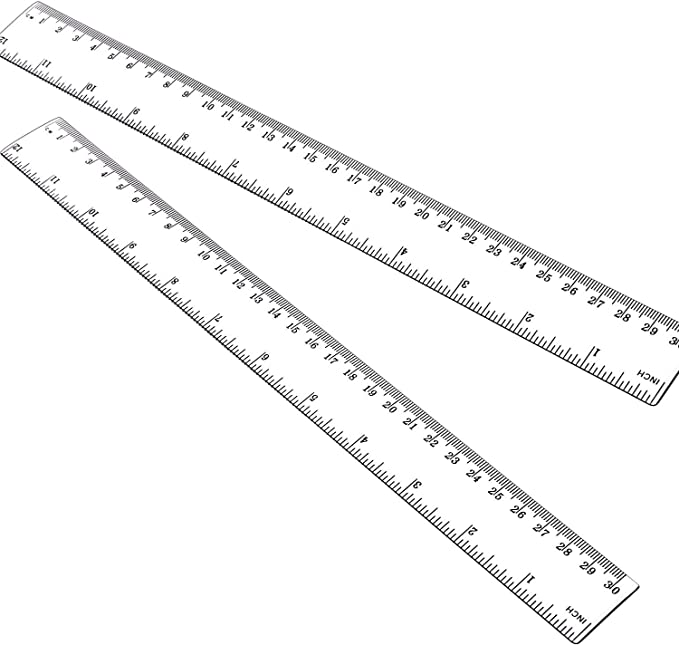 12 Inch Ruler 2pcs Straight Ruler 30cm Ruler With Centimeters And Inches Plastic Measuring Tools Clear Office Products