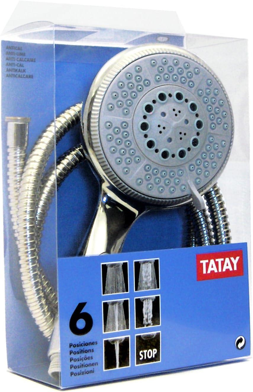Cromado 16 x 7.5 x 26 cm Tatay 3381409 Kit Ducha Soporte