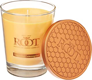 product image for Root Candles Honeycomb Veriglass Scented Beeswax Blend Candle, Large, Tangerine Lemongrass
