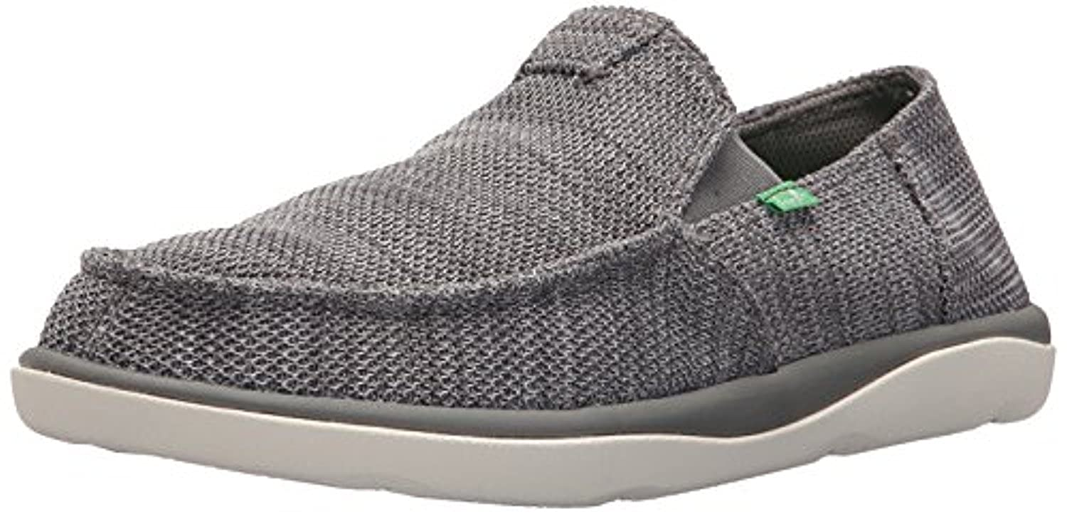 Sanuk Men's Vagabond Tripper Mesh Sidewalk Surfer Charcoal 7 & Cleaner