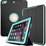 New iPad 2018/2017 Case, Smart Case with Auto Sleep Wake Function Three Layer Drop Protection Rugged /Shock Proof Case for Apple New iPad 9.7 inch (Light Blue)