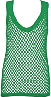 Crystal Childrens 100% Cotton Mesh Fishnet Fitted String Vest