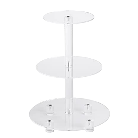 Wedding Supplies YestBuy 3 Tiers Square Party Tree Tower Acrylic Cake Stand 6 between 2 layers