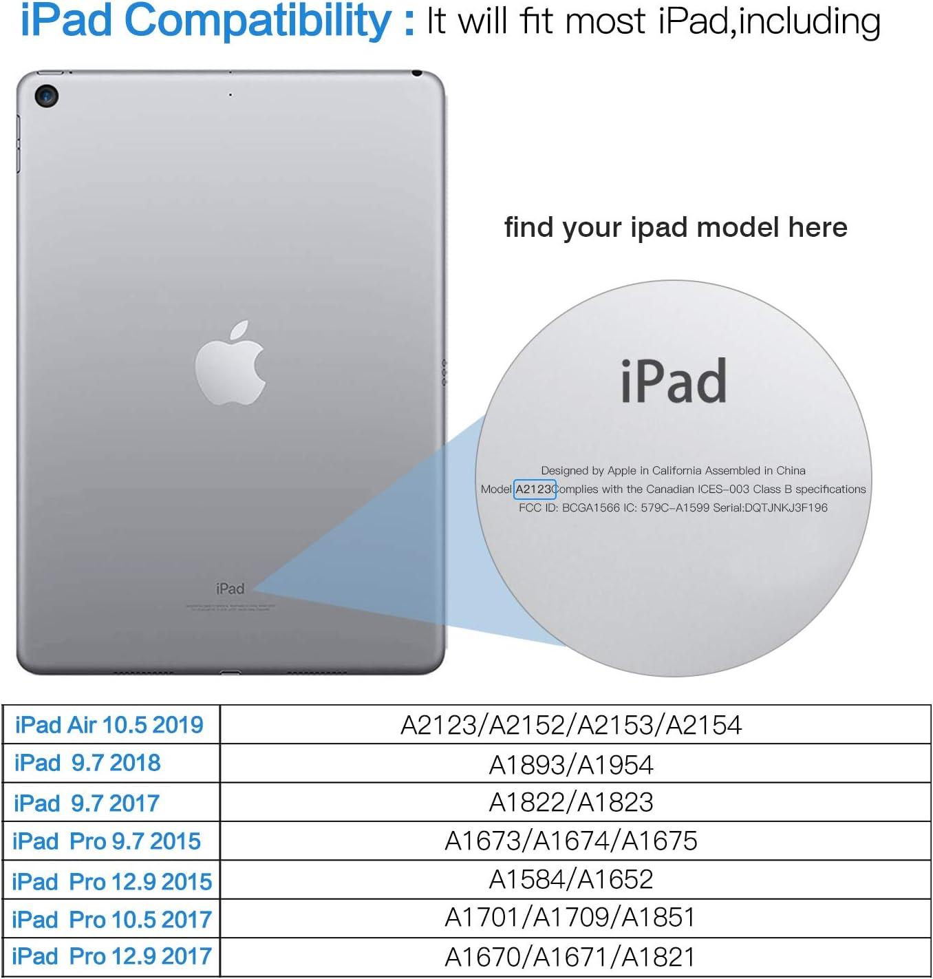 iPad Pro 12.9 2018 Convient /à Tablette iPad Pro 11 2018 Housse en PU Cuir avec Sangle /Élastique TiMOVO Sac de Protection Compatible avec Apple Pencil 2/ème g/én/ération Noir