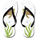 LplpolRainbow Pig Pattern On Black Flip Flops for Kids and Adult Unisex Beach Sandals Pool Shoes Party Slippers