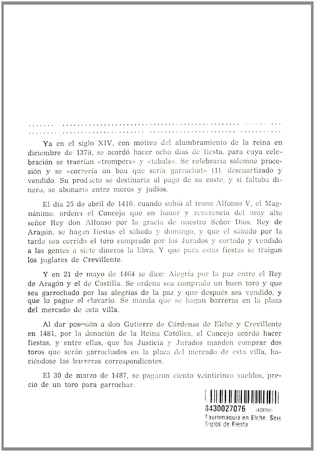 SEIS SIGLOS DE LA FIESTA DE TOROS.: Alejandro. RAMOS FOLQUES: 9788430027071: Amazon.com: Books