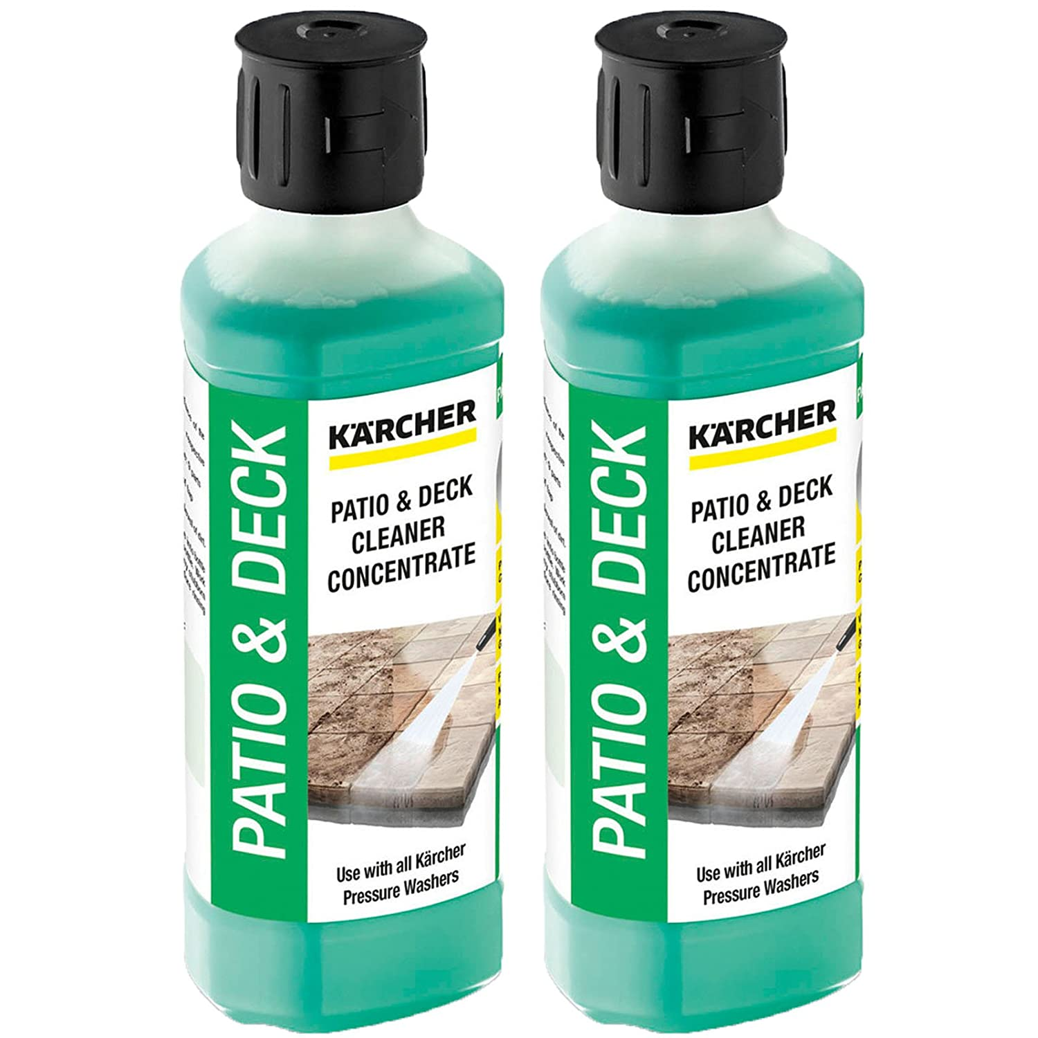 KARCHER Genuine Patio + Deck Pressure Washer Cleaner Detergent Fluid - Mixes up to 5L (Pack of 2)