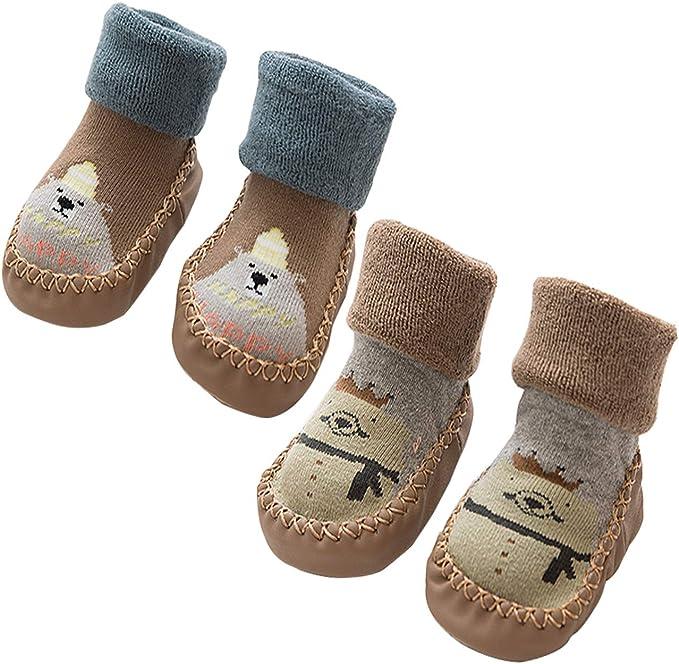 Calcetines antideslizantes para bebé, calcetines de algodón para ...