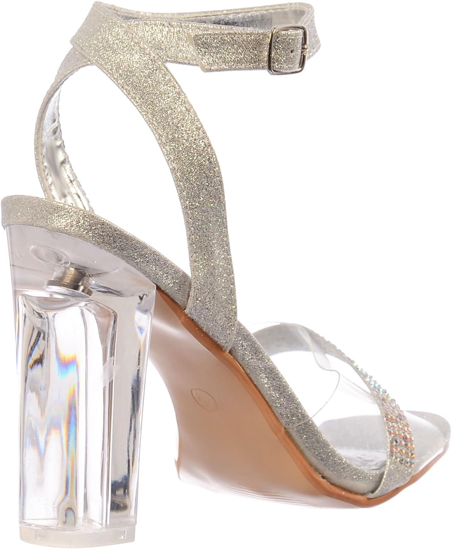 Details about  /Womens Ladies Stiletto Heel Sandals Dimante Chandlier Trim Party Evening Shoes