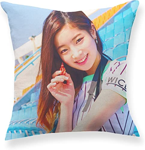 Fanstown Kpop Twice Page Two Throw Pillow Soft Velvet core Included with lomo Cards