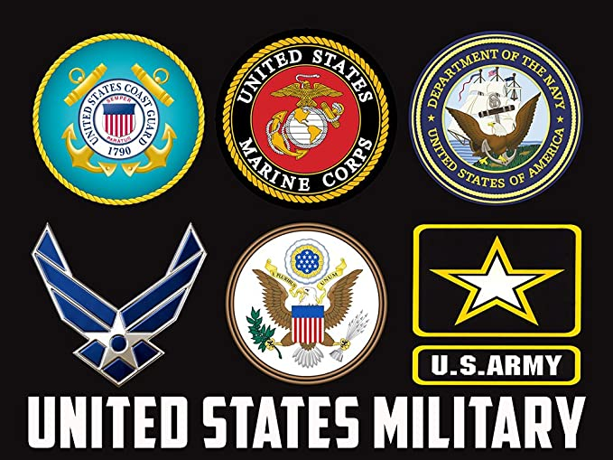 US Military Branches Poster US Military Military Poster Army Navy Air Force Marines Coast Guard 18X24 (MILITARY3)