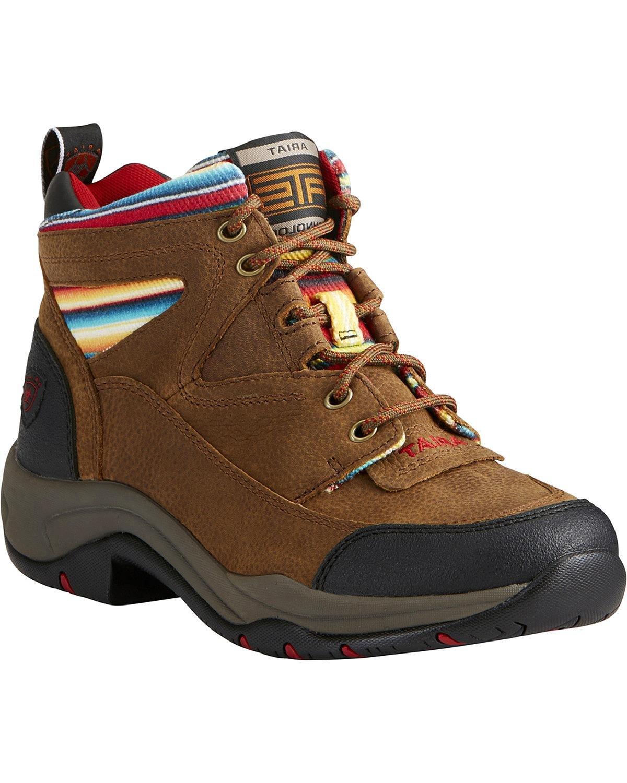 Ariat Women's - Terrain Hiking Boot B01ND1K2IE 6.5 C / Wide(Width) Walnut/Serape