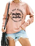 Blooming Jelly Women's Cute Crewneck Sweatshirt Graphic Raglan Long Sleeve Loose Pullover Top