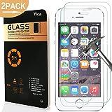 [2 Stück] iPhone SE/5C/5S/5 Panzerglas Glasfolie Glas Schutzfolie ,Yica 0.25 mm 9H Hartglas Glasfolie Displayschutzglas Display Folie Screen Protector für iPhone SE/5C/5S/5