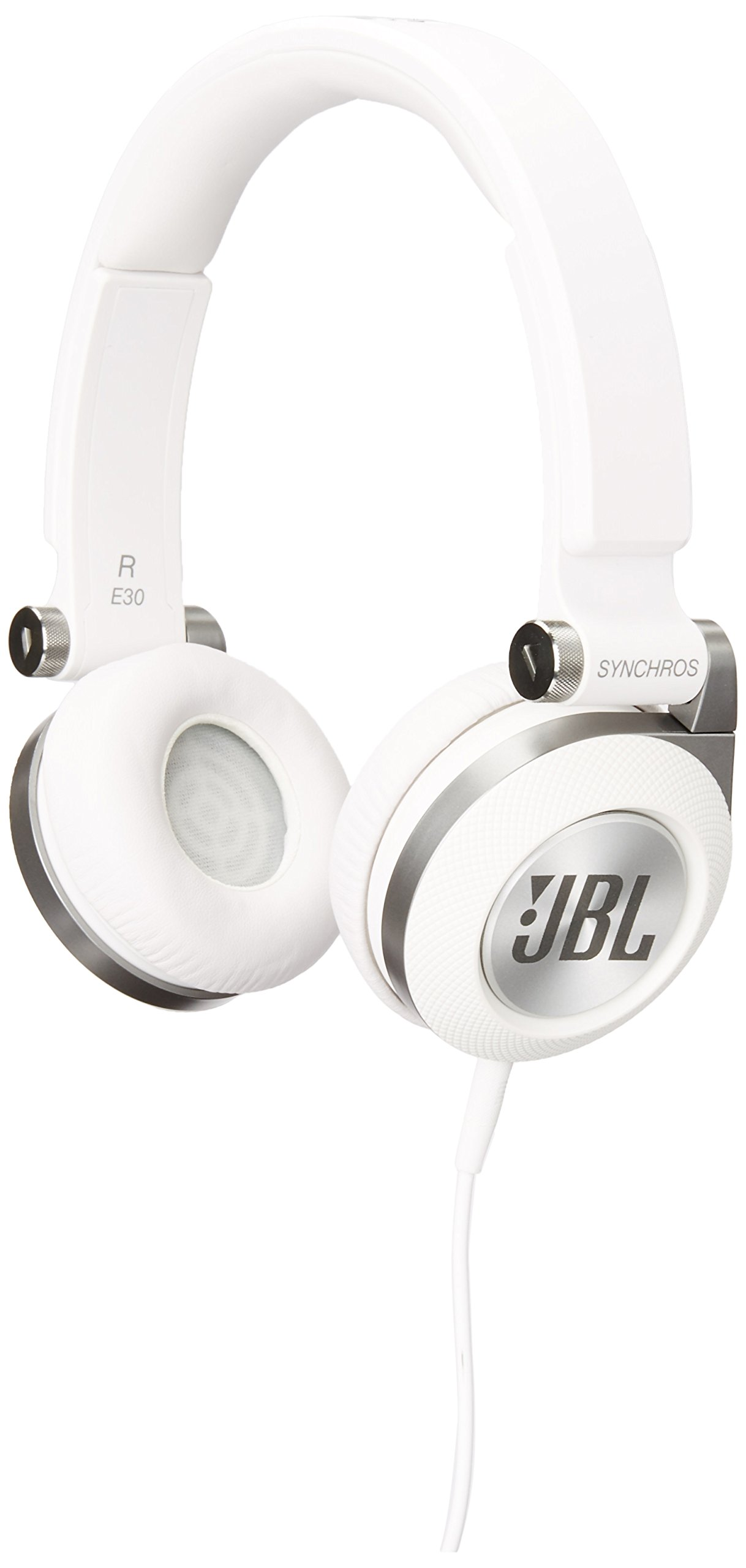 JBL E30 White High-Performance On-Ear Headphones with JBL Pure Bass and DJ-Pivot Ear Cup, White
