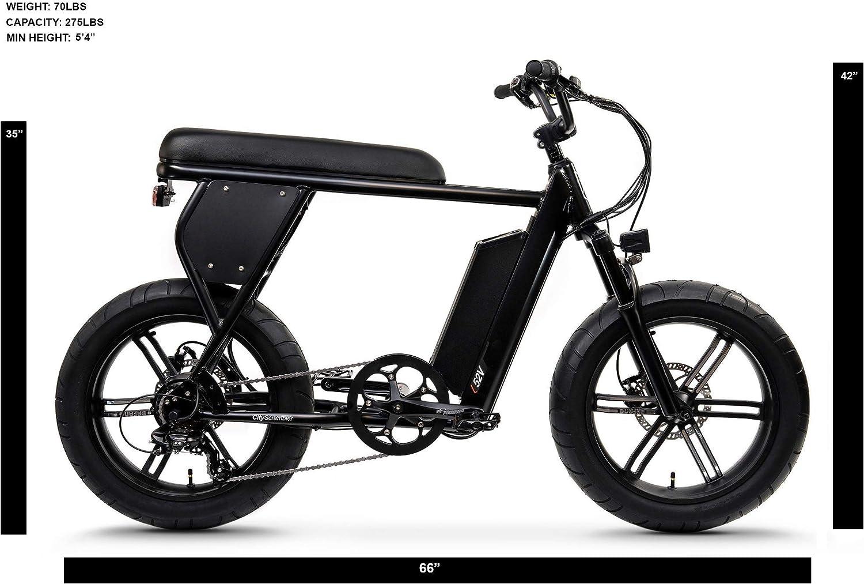 Juiced Bikes City Scrambler - Bicicleta eléctrica para llanta de Grasa, Motor Bafang de 750 W, batería de 52 V, Rango de 25 a 60 Millas | 28 mph: Amazon.es: Deportes y aire libre