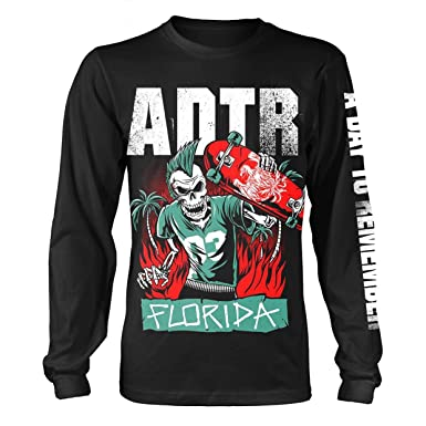 A Day To Remember T Shirt Florida Band Logo Official Mens Black Long Sleeve