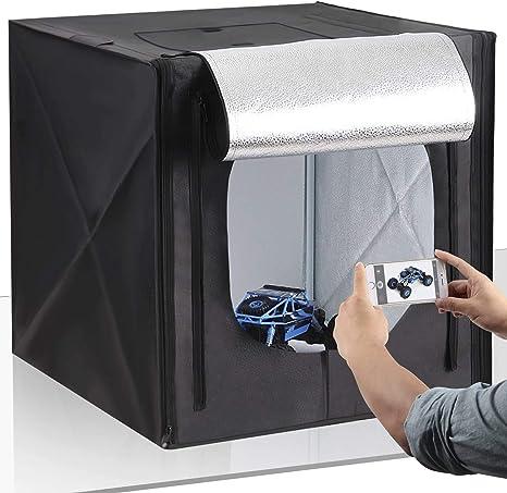 Amzdeal Caja de luz Fotografía 50cm: Amazon.es: Electrónica