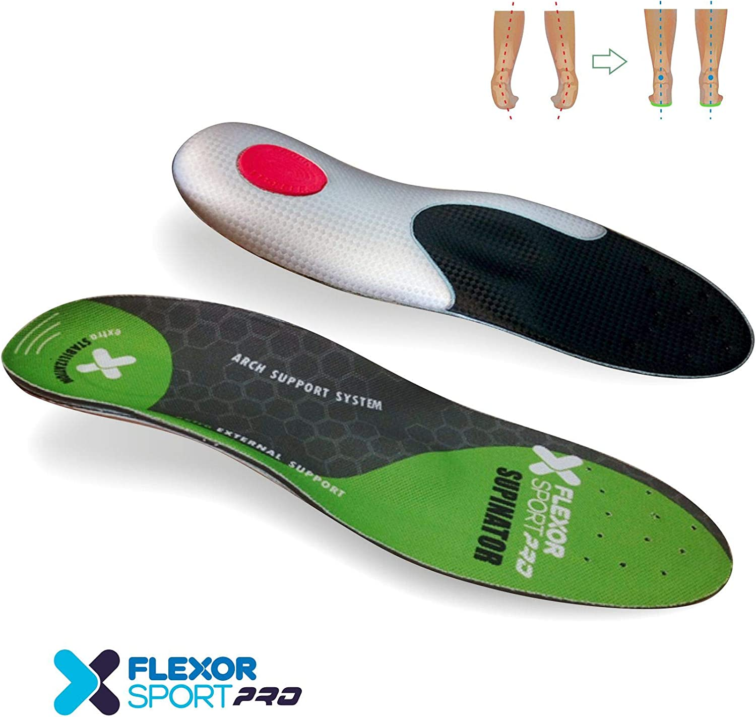 Desconocido Flexor Sport Trail Running para pie supinador FX8 019 ...