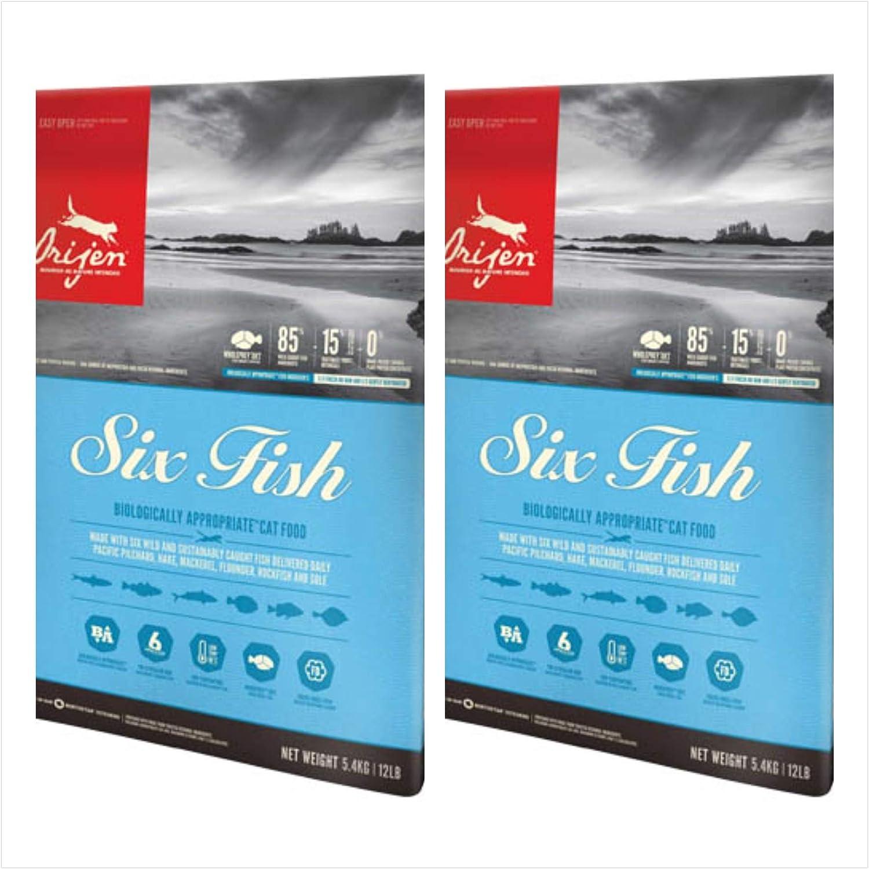 Orijen 2 Pack Six Fish Dry Cat Food 12 Lb Each Biologically Appropriate Cat Food