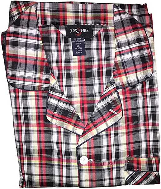 Big and Tall Broadcloth Fancy Long Sleeve Pajamas to 6X in Assorted Prints