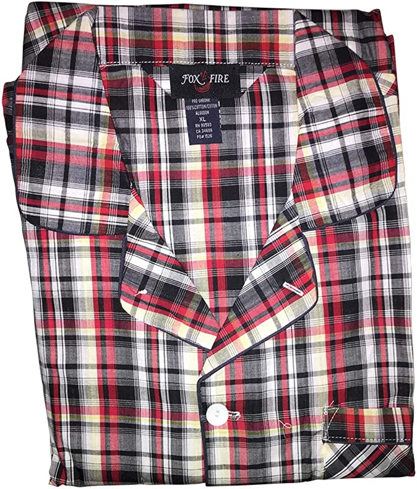 Big and Tall Broadcloth Fancy Long Sleeve Pajamas to 8X in Assorted Prints