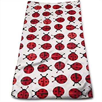 Liumiang Exotic Zoologie Mini Ladybugs Red Toallas Multi-Purpose Microfiber Soft Fast Drying Travel Gym Home Hotel Office Washcloths: Amazon.es: Hogar