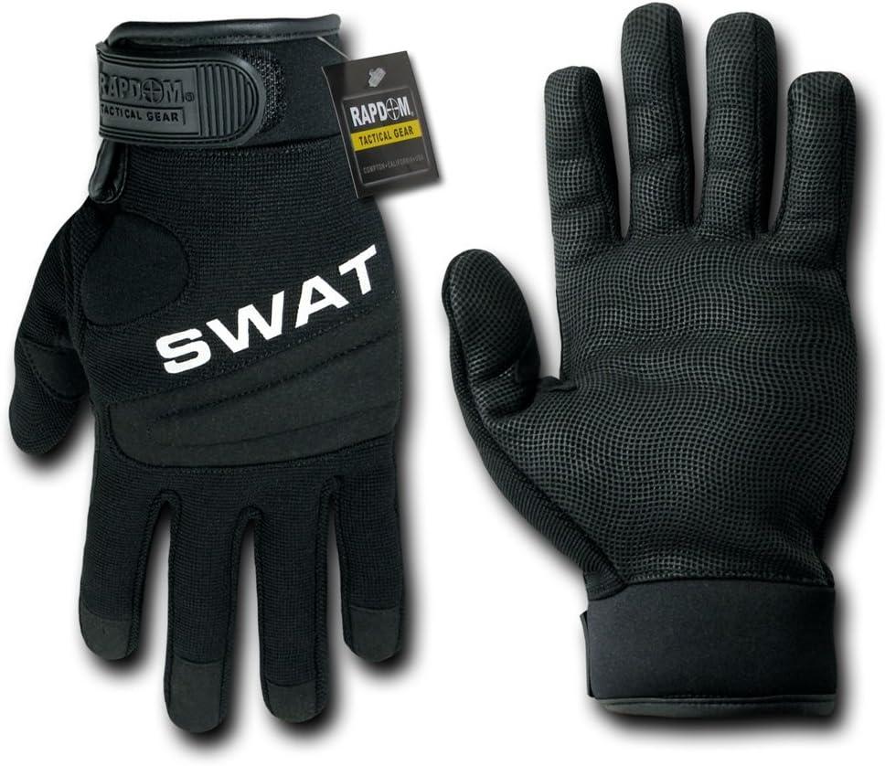 RAPDOM Tactical SWAT Digital Leather Gloves Rapid Dominance T29-SWT-BLK-01-p