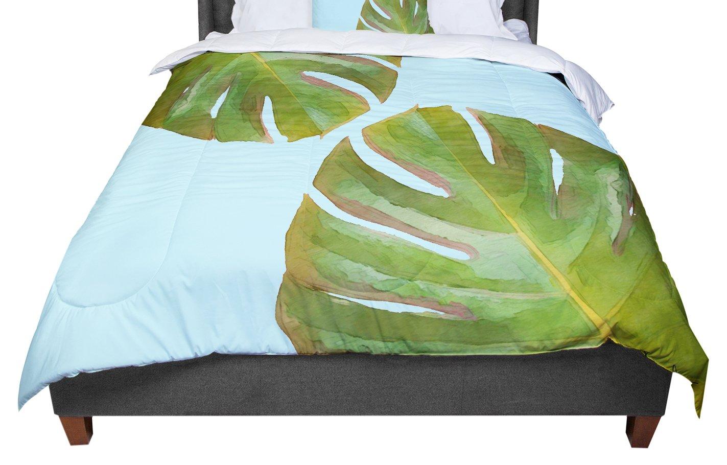 KESS InHouse Ingrid Beddoes Bubblicious Green Blue Twin Comforter 68 X 88