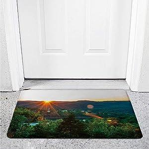 Eureka Springs Sunset,Throw Rugs Rugs for Living Room Red Carpet 1.6 x 2.6 ft