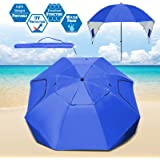 Strong Camel Portable All-Weather and Sun Umbrella. 7-Foot Canopy Umbrella Shelter Sport or Beach Tent