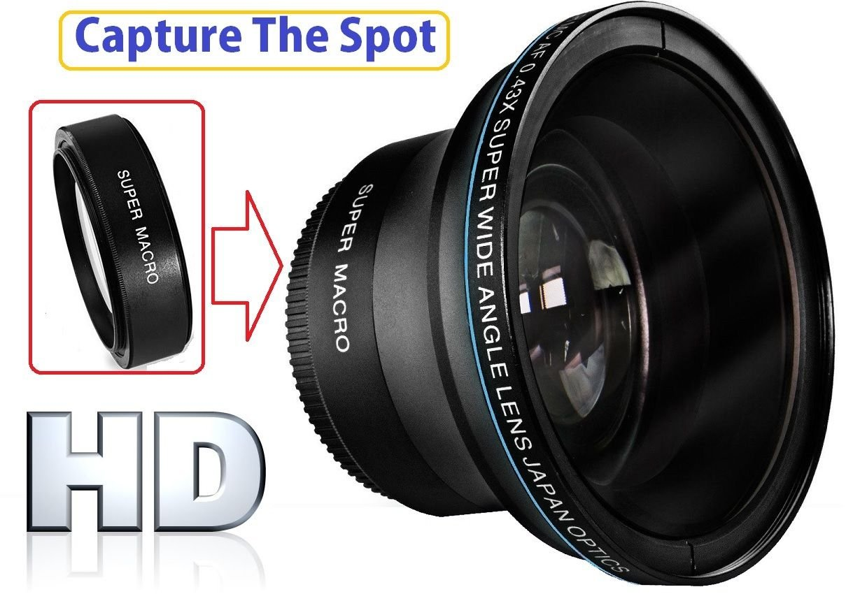 Hi-Def Professional MK III Fisheye Lens With Macro For Sony FDR-AX40 FDR-AX53 by pro series