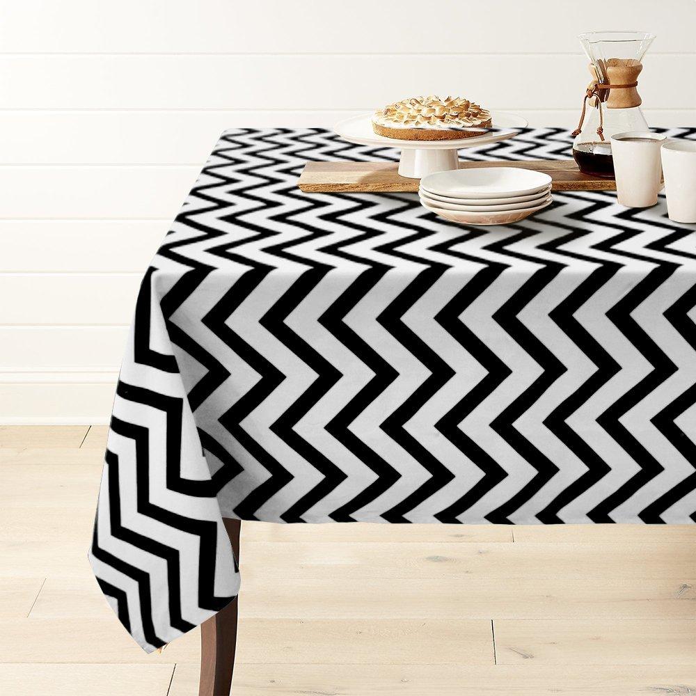 Chevron Muster Tischläufer Ess Küche Leinen Geschirr Tischdecke Abdeckung