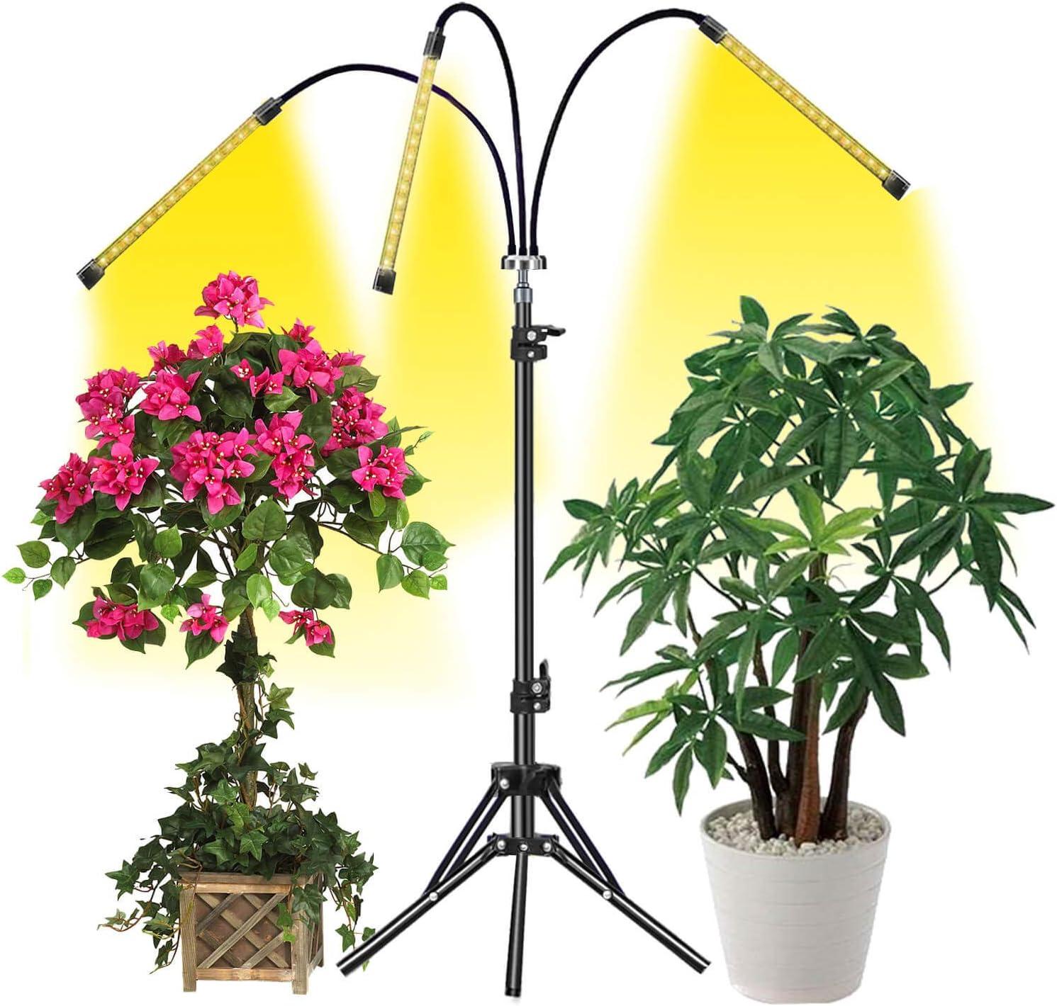 60W LED Grow Light Dual Head UV /& IR 360 Adjustable Plant Lamp For Indoor Plants