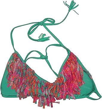 Amazon.com: Raisins Juniors Fringe Front Halter Bikini Top