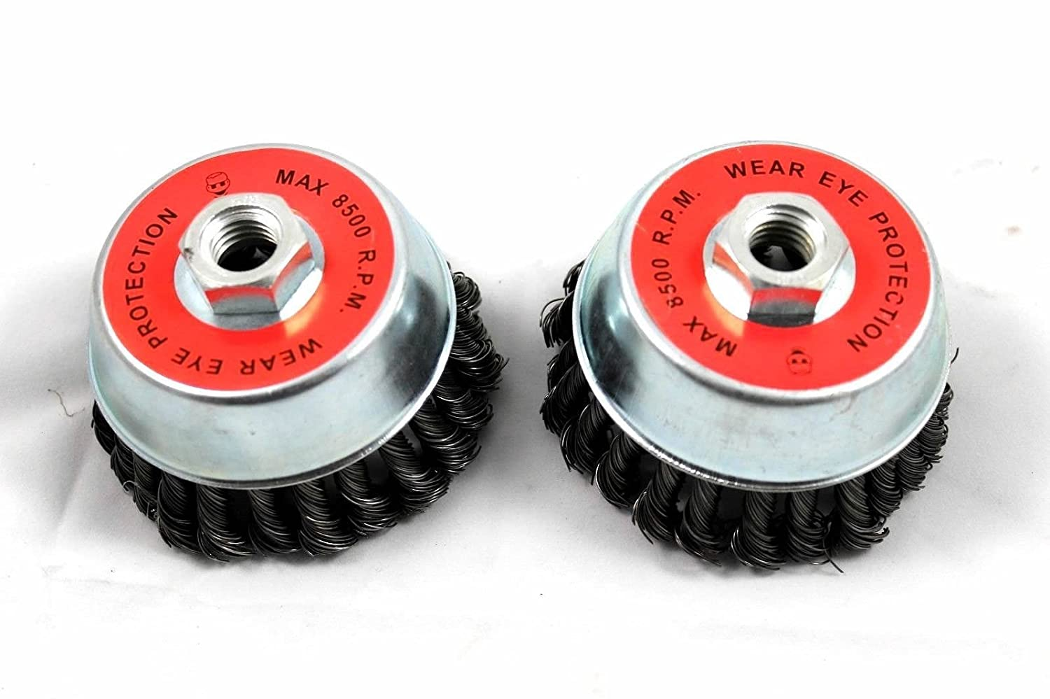 2 Pack 4' Cup Knotted Wire Wheel Angle Grinder Brush J&R Quality Tools