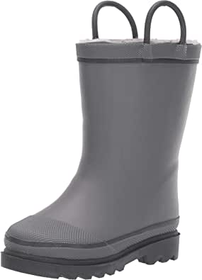 Western Chief Kids' Waterproof Solid Rain Boots with Cozy Lining