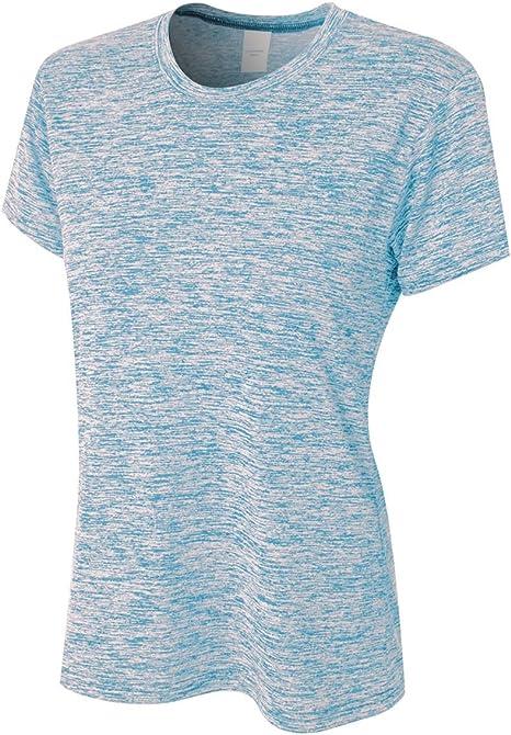 A4 de la Mujer Espacio Dye Tech Camiseta