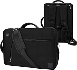 Black Convertible Laptop Bag for 14 15.6 inch Dell Latitude, Inspiron, Chromebook, Precision, Vostro, G3 G5 G7 m15 R2