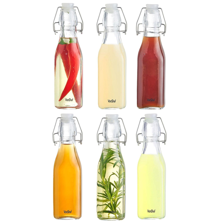 Botellas de cristal 250ml con cierre hermetico
