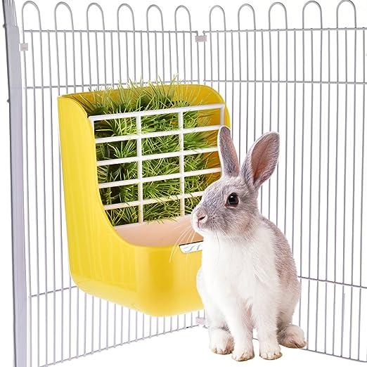 Yunt 2 en 1 - Aparcabicicletas para heno y fiambrera para conejos ...