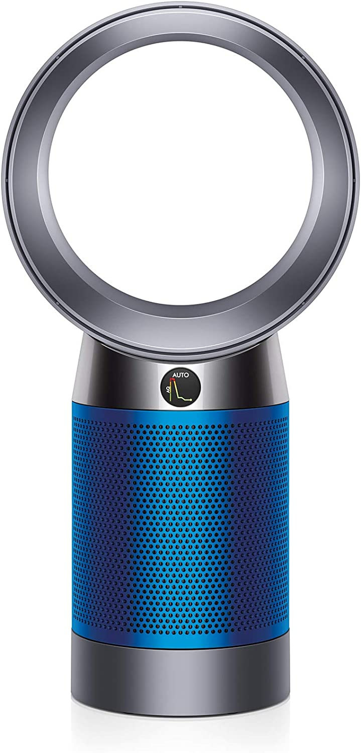Dyson Pure Cool, DP04-HEPA Air Purifier and Fan WiFi-Enabled, Large Rooms, Automatically Removes Allergens, Pollutants, Dust, Mold, VOCs, Blue