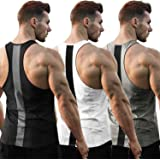 COOFANDY Men's 3 Pack Workout Tank Tops Quick Dry Y Back Gym Muscle Tee Bodybuilding Fitness Sleeveless T Shirts